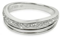 Žiedas Silver Cat sidabrinis su kristalais SC037 (Dydis: 56 mm) Rings
