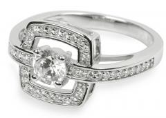 Žiedas Silver Cat sidabrinis su kristalais SC046 (Dydis: 54 mm) Rings