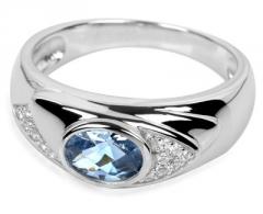Žiedas Silver Cat sidabrinis su kristalais SC055 (Dydis: 56 mm)