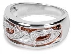 Žiedas Silver Cat sidabrinis su kristalais SC064 (Dydis: 56 mm) Rings