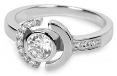 Žiedas Silver Cat sidabrinis su kristalais SC079 (Dydis: 54 mm) Gredzeni