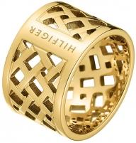 Žiedas Tommy Hilfiger Originální pozlacený prsten z oceli TH2700750 (Dydis: 56 mm) Gredzeni