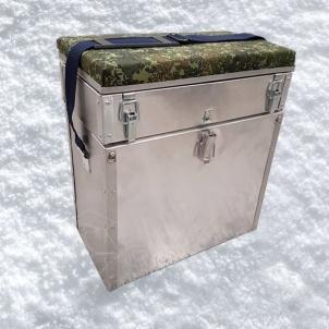 Žieminė dėžė žvejybai FPB 38X20X41 Aliuminė 28 litrų Žvejybinės dėžės, krepšiai