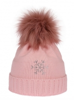 Žieminė kepurė CAPU 670-A Rožinė Kepurės