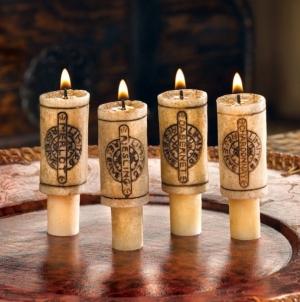 Žvakių rinkinys Vyno butelio kamštis Noderīga tidbits