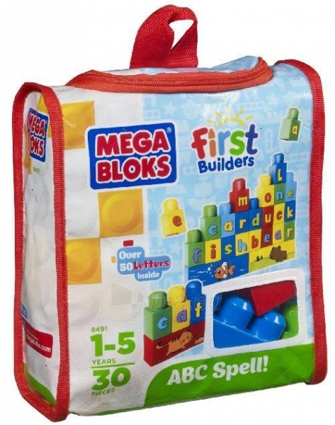 08491 Mega Bloks Klasikinis konstruktorius, 30vnt Paveikslėlis 1 iš 1 250710600215