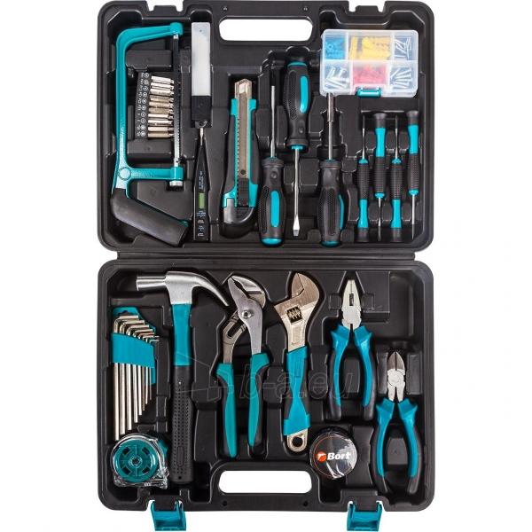 100 dalių įrankių rinkinys naujakuriams BORT BTK-100 Paveikslėlis 2 iš 3 310820193747