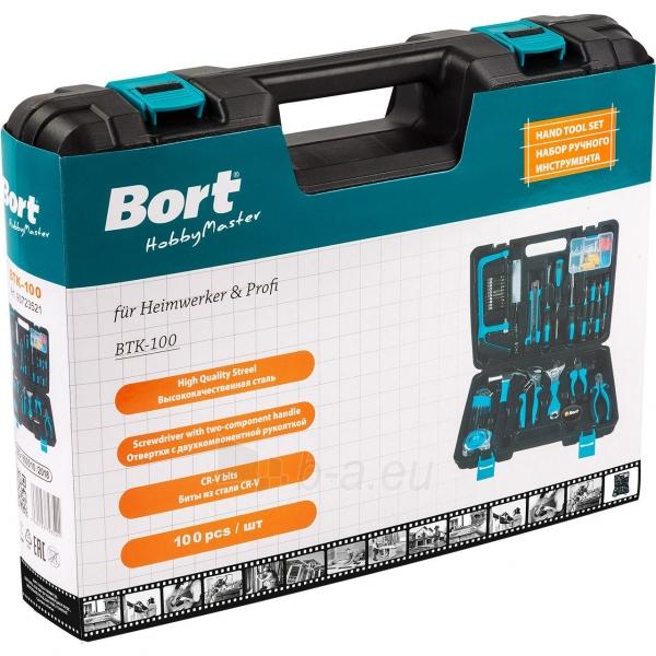 100 dalių įrankių rinkinys naujakuriams BORT BTK-100 Paveikslėlis 3 iš 3 310820193747