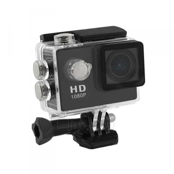 2.0 vandeniui atspari veiksmo kamera Full HD QOLTEC for helmet/bike/car | Black Paveikslėlis 1 iš 3 310820044964