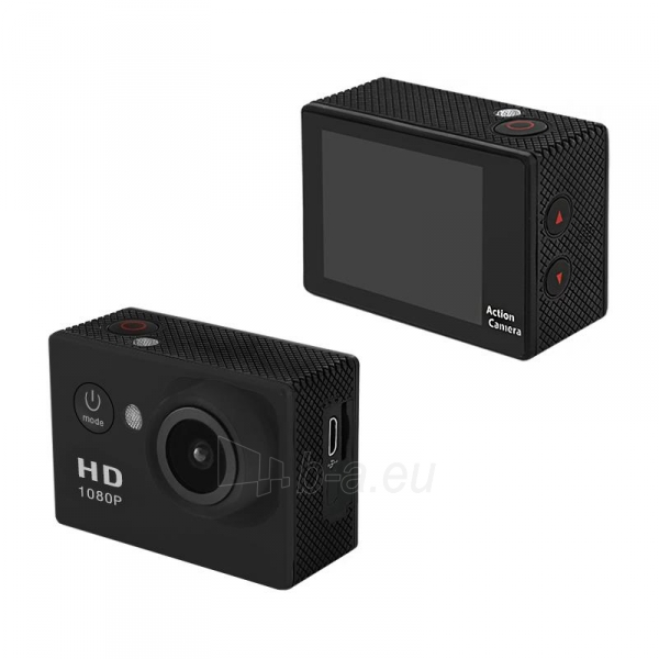 2.0 vandeniui atspari veiksmo kamera Full HD QOLTEC for helmet/bike/car | Black Paveikslėlis 2 iš 3 310820044964