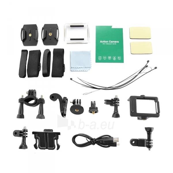 2.0 vandeniui atspari veiksmo kamera Full HD QOLTEC for helmet/bike/car | Black Paveikslėlis 3 iš 3 310820044964