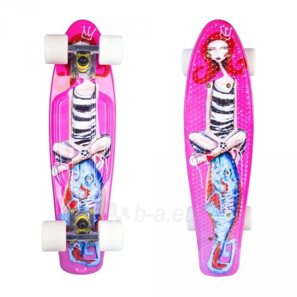 22 Mini riedlentė, Penny lenta, plastikas, ABEC-11 guoliai Fish Print Girl SW Paveikslėlis 1 iš 1 310820175738