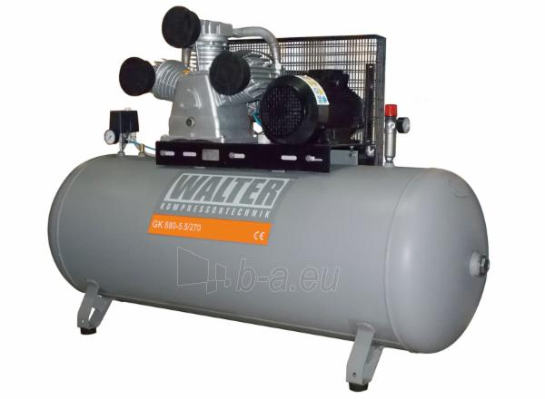 WALTER GK880-5,5/270 stūmoklinis oro kompresorius su 270 L resiveriu Paveikslėlis 1 iš 1 225291000157
