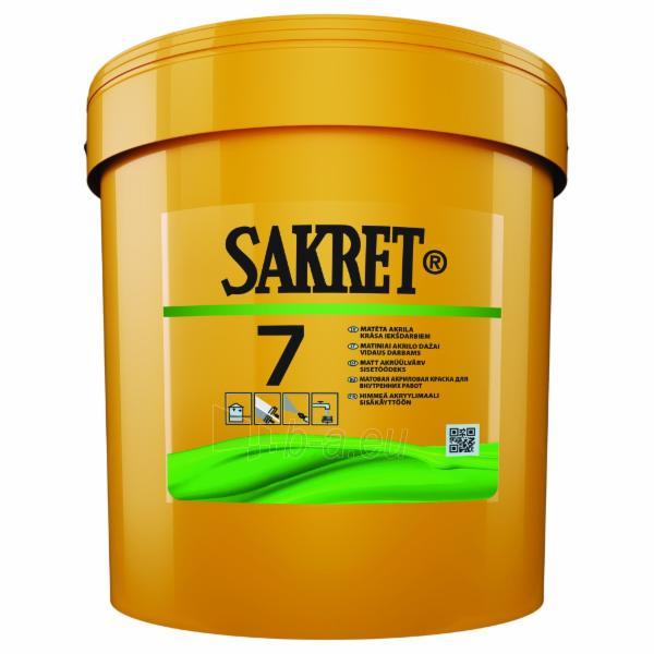 Matiniai akriliniai dažai SAKRET 7 (C bazė) 2,7 ltr. Paveikslėlis 1 iš 1 236504000058