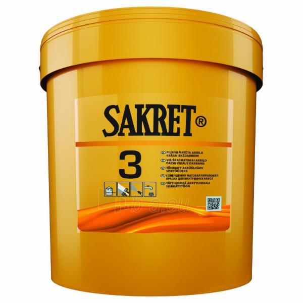 Akriliniai visiškai matiniai dažai SAKRET 3 0,9 ltr. Paveikslėlis 1 iš 1 236504000060
