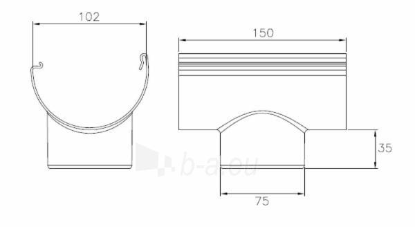 PLASTMO Latako nuolaja klijuojama (Nr.10) 100 mm (grafitinė) Paveikslėlis 2 iš 2 237520400003