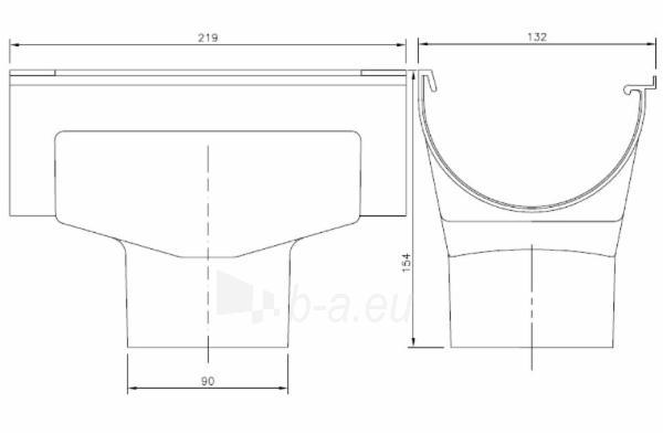 PLASTMO Latako nuolaja kompensacinė (Nr.11/90mm) 120 mm (balta) Paveikslėlis 2 iš 2 237520400023