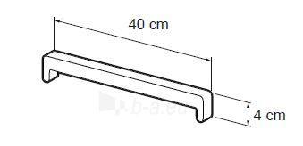 PVC palangės antgalis, baltas Paveikslėlis 1 iš 1 237950100092