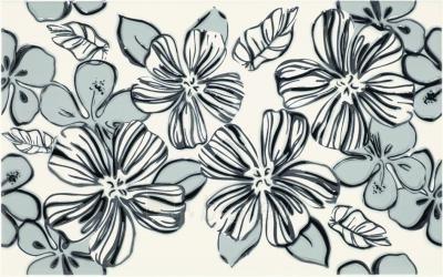 25*40 VIVIAN BIANCO KWIAT INS, dekoruota plytelė Paveikslėlis 1 iš 1 237751001971