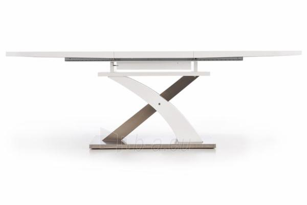 Valgomojo stalas Sandor (baltas) išskleidžiamas Paveikslėlis 5 iš 10 250422000396