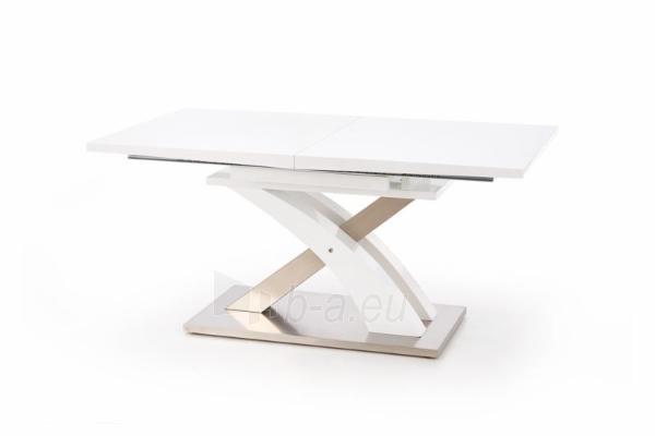 Valgomojo stalas Sandor (baltas) išskleidžiamas Paveikslėlis 3 iš 10 250422000396