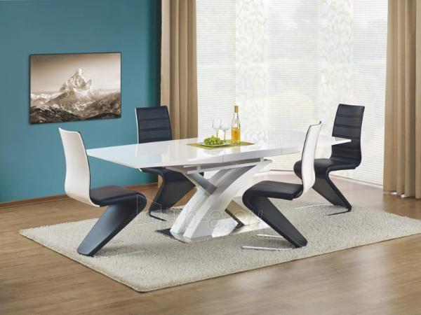 Valgomojo stalas Sandor (baltas) išskleidžiamas Paveikslėlis 1 iš 10 250422000396