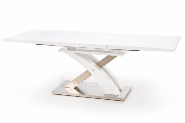 Valgomojo stalas Sandor (baltas) išskleidžiamas Paveikslėlis 10 iš 10 250422000396