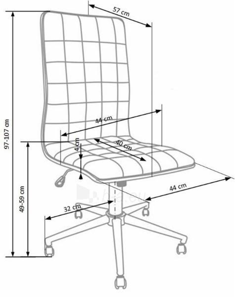 Biuro kėdė darbuotojui PORTO juoda Paveikslėlis 2 iš 3 250462100033
