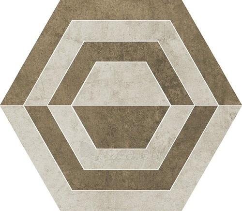 26*29.8 SCRATCH BEIGE HEKSAGON A MAT, akmens masės dekoruota plytelė Paveikslėlis 1 iš 1 310820029641