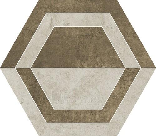 26*29.8 SCRATCH BEIGE HEKSAGON B MAT, akmens masės dekoruota plytelė Paveikslėlis 1 iš 1 310820041924