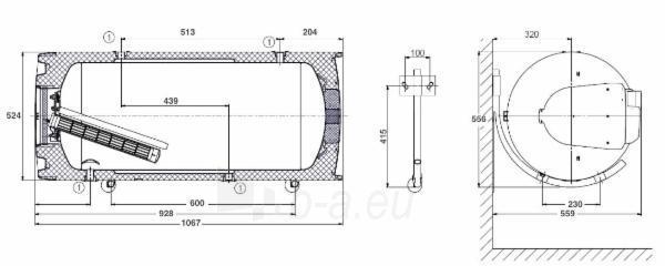 Pakabinamas horizontalus kombinuotas vandens šildytuvas DRAŽICE OKCV 160 Paveikslėlis 3 iš 3 271420000045