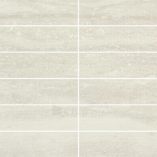 29.8*29.8 MOZ EXPLORER BIANCO B (4.8*14.8), akmens masės mozaika Paveikslėlis 1 iš 1 237751002798