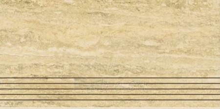 29.8*59.8 TRAVERTINO SILVER LAPPATO STOP, akmens masės pakopa Paveikslėlis 1 iš 1 237751002531