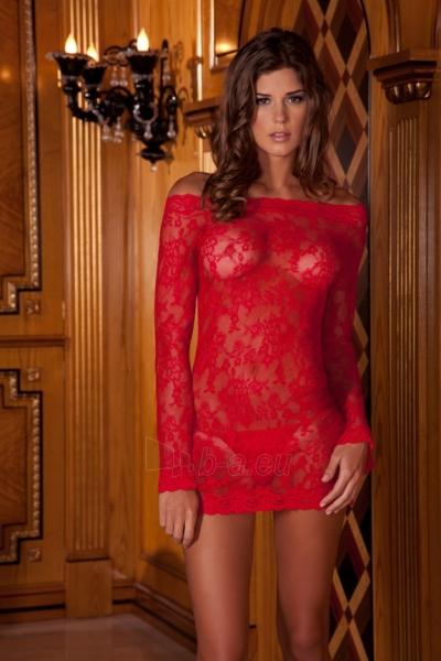 2PC Long-Sleeve Chemise Dress & Thong Paveikslėlis 1 iš 1 25140807000319