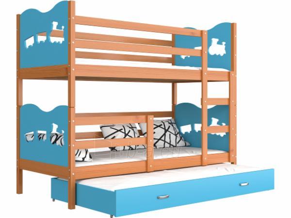 Vaikiška Trivietė Lova Max 3 190x80 Paveikslėlis 21 iš 24 310820056058