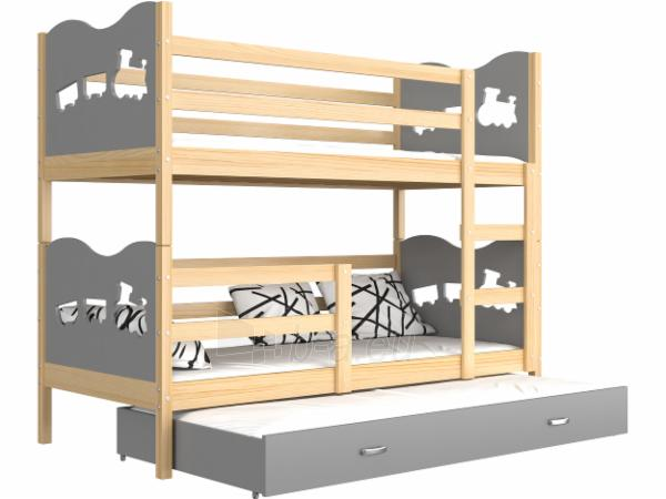 Vaikiška Trivietė Lova Max 3 190x80 Paveikslėlis 3 iš 24 310820056058
