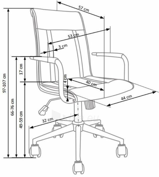 Biuro kėdė darbuotojui Porto 2 balta Paveikslėlis 4 iš 6 310820085987