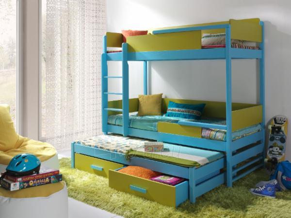 Vaikiška trivietė lova QUATRO Paveikslėlis 1 iš 6 310820128587