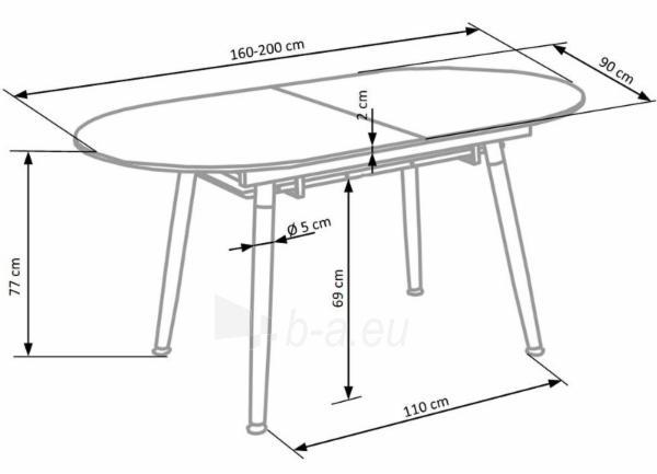 Valgomojo stalas CALIBER išskleidžiamas Paveikslėlis 5 iš 10 310820130959