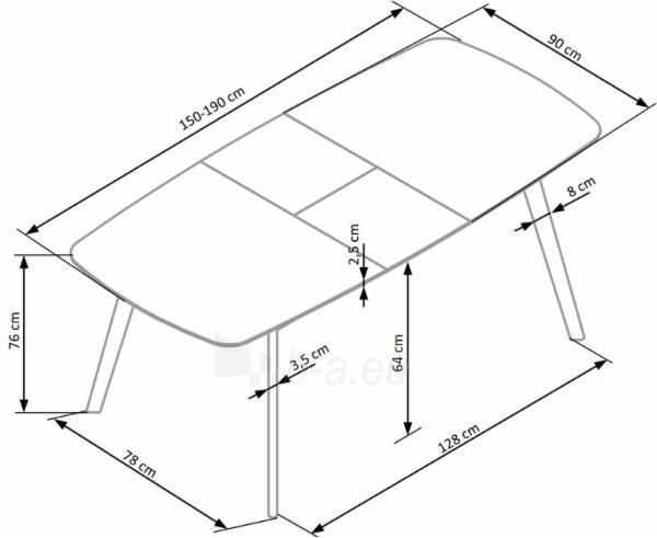Valgomojo stalas ONTARIO išskleidžiamas Paveikslėlis 4 iš 12 310820130974