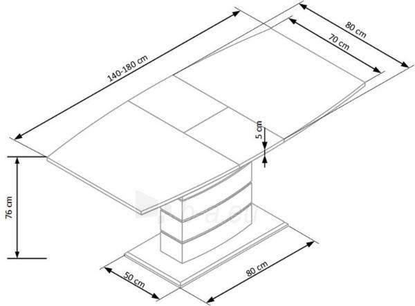Valgomojo stalas TORONTO išskleidžiamas Paveikslėlis 6 iš 13 310820131162