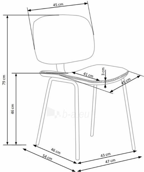 Valgomojo kėdė K278 Paveikslėlis 6 iš 8 310820132966