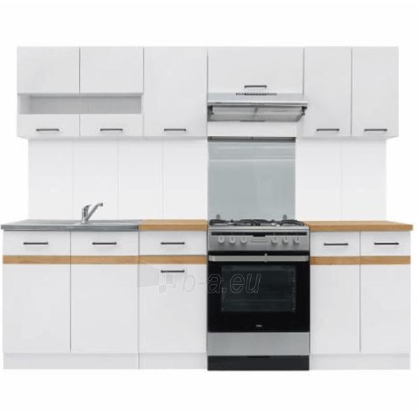 Virtuvės komplektas Junona 240 Balta/auksinis ąžuolas Paveikslėlis 2 iš 4 310820133431