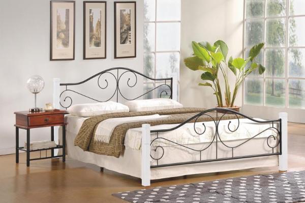 Miegamojo lova VIOLETTA 160 balta Paveikslėlis 1 iš 1 310820170055