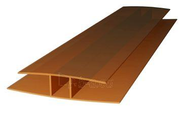 Polikarbonatinių plokščių sujungimo profilis PC-H 10 mm (6 m) bronzinis Paveikslėlis 1 iš 1 310820176175