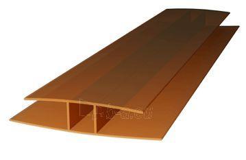 Polikarbonatinių plokščių sujungimo profilis PC-H 4-6 mm (6 m) bronzinis Paveikslėlis 1 iš 1 310820176176