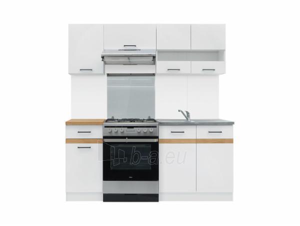 Virtuvės komplektas Junona 180cm balta/auksinis ąžuolas Paveikslėlis 2 iš 2 310820176839