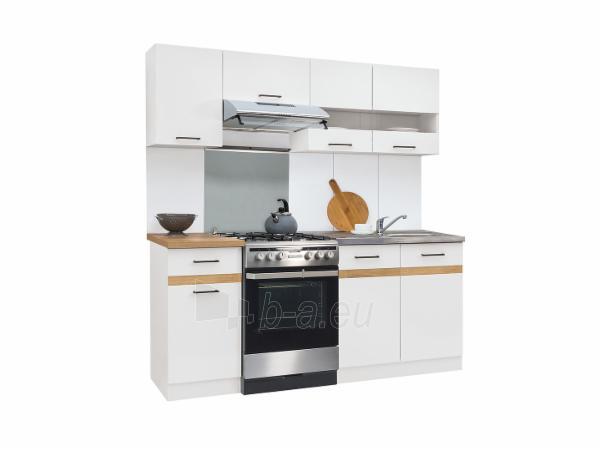 Virtuvės komplektas Junona 180cm balta/auksinis ąžuolas Paveikslėlis 1 iš 2 310820176839