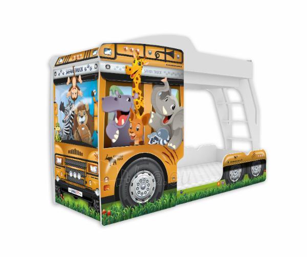 Vaikiška Dviaukštė Lova Mega Truck Paveikslėlis 10 iš 11 310820178328