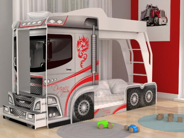 Vaikiška Dviaukštė Lova Mega Truck Paveikslėlis 9 iš 11 310820178328